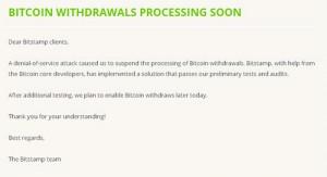 Cryptoff.net: Bitstamp планирует открыть вывод Bitcoin уже сегодня