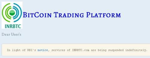 Cryptoff.net: В Индии закрываются Bitcoin обменники