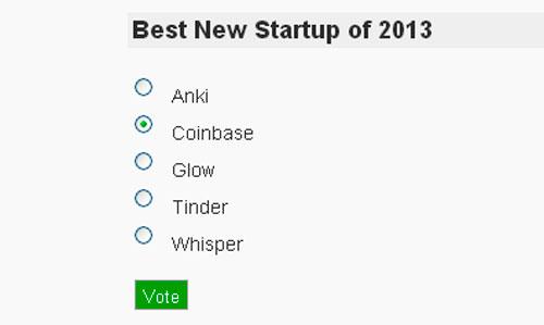 Cryptoff.net: Coinbase номинирован на лучший стартап 2013